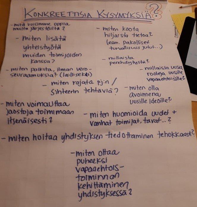 Vapaaehtoistoiminnan koulutus Lounais-Suomen latualueella