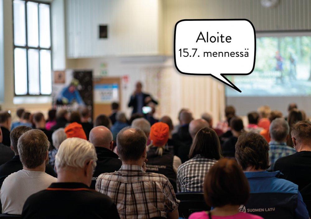 Aloitteet Suomen Ladun syyskokoukselle