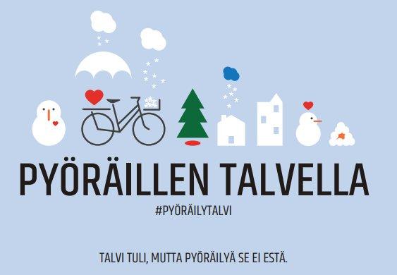 Pyöräilytalvi-kampanja herättelee ihmisiä ympärivuotisen pyöräilyn etuihin.