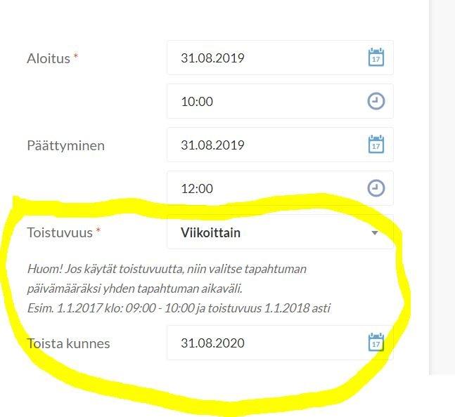 Yhdistysten tapahtumat Suomen Ladun tapahtumakalenterissa