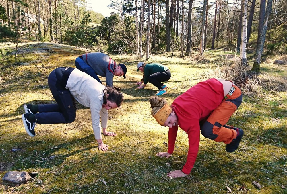 Luontoparkour innostaa lapsia ulos leikkimään ja liikkumaan