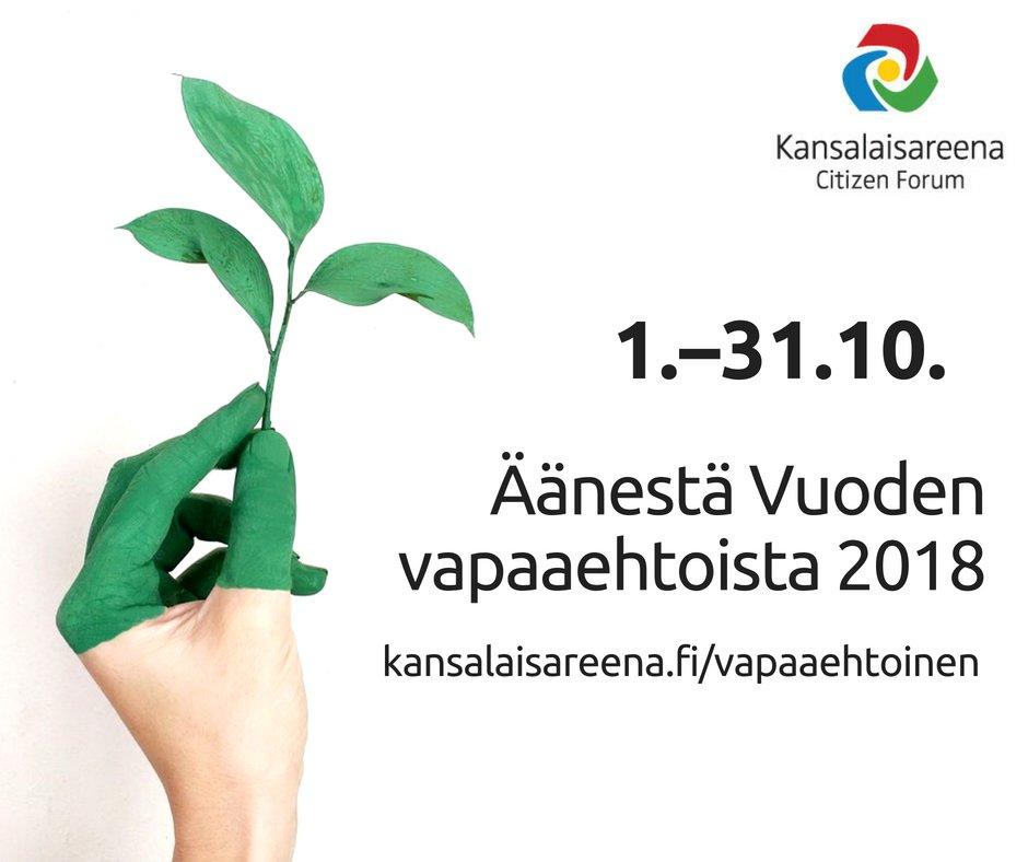 Äänestä Kansalaisareenan Vuoden vapaaehtoista!